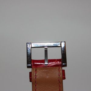 Hermes Accessories - Hermes Paris 16mm Red Crocodile Porosus Watch Band